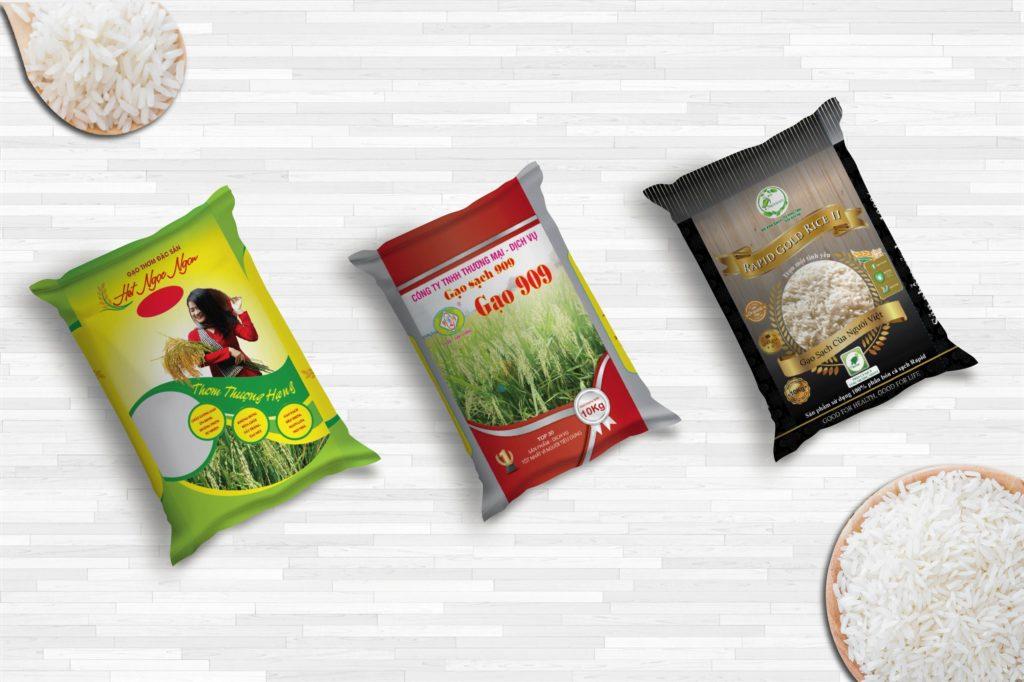 Hình ảnh trên bao bì gạo phải được phối hợp hài hòa