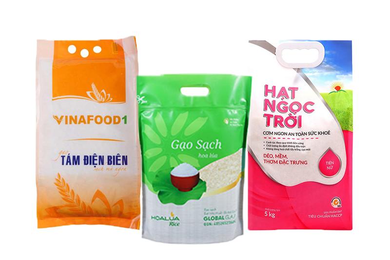 Những thương hiệu gạo Việt nổi tiếng - bao bì gạo việt nam