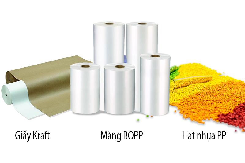 Bao bì được làm từ nhiều chất liệu khác nhau như nhựa PP, BOPP, giấy