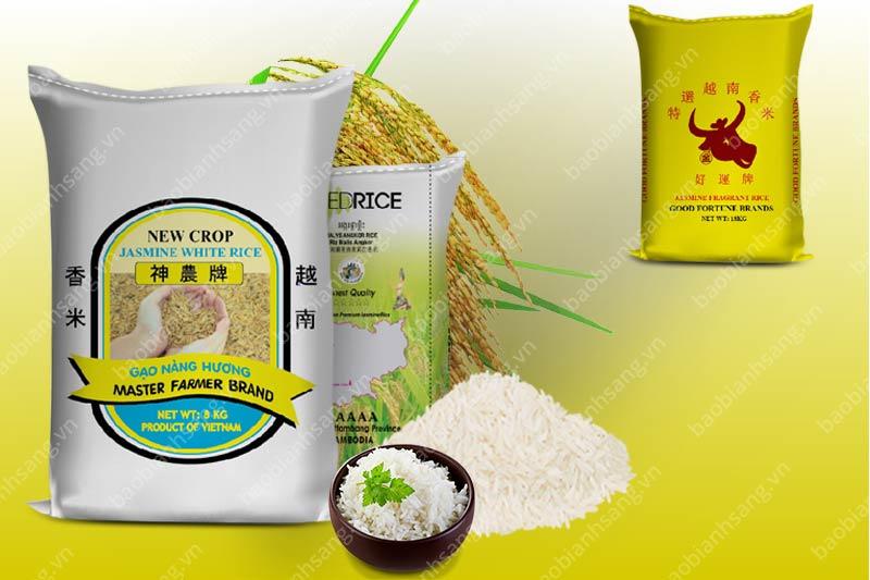 Mẫu bao bì đựng gạo - các mẫu thiết kế bao bì đẹp