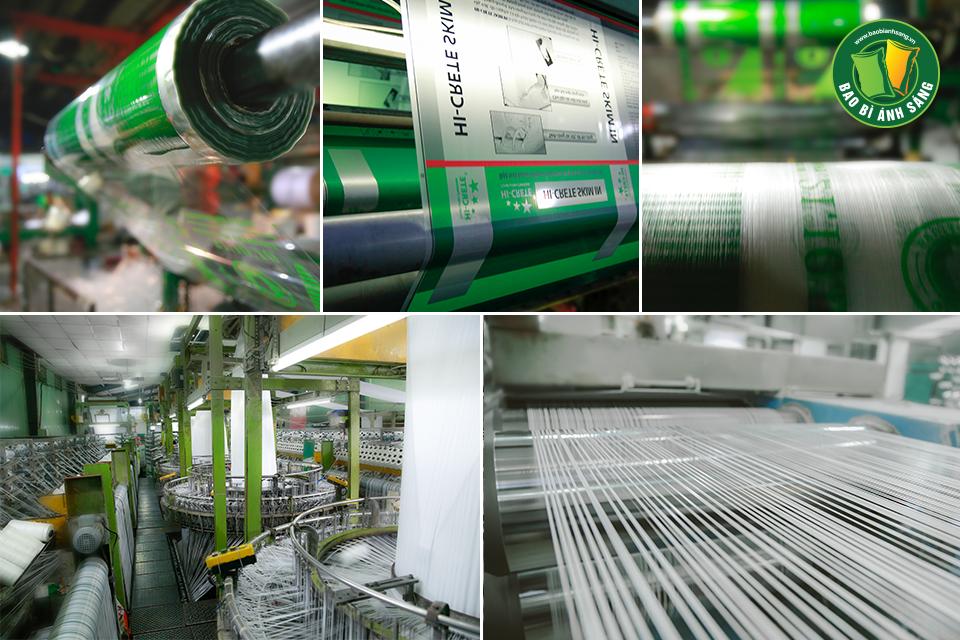 Hệ thống phân xưởng sản xuất của Bao Bì Ánh Sáng