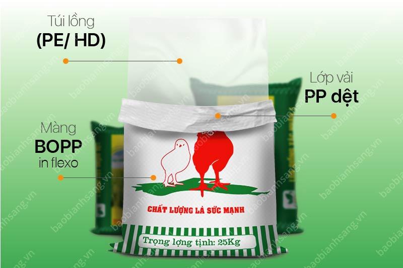 Mẫu Bao Bì Thức Ăn Chăn Nuôi PP dệt in Flexo - bao bì thức ăn chăn nuôi