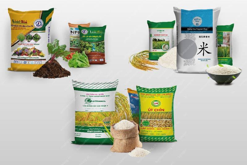 Những mẫu bao bì đựng gạo, lúa giống, phân bón của Bao bì Ánh Sáng - bao bì thức ăn chăn nuôi