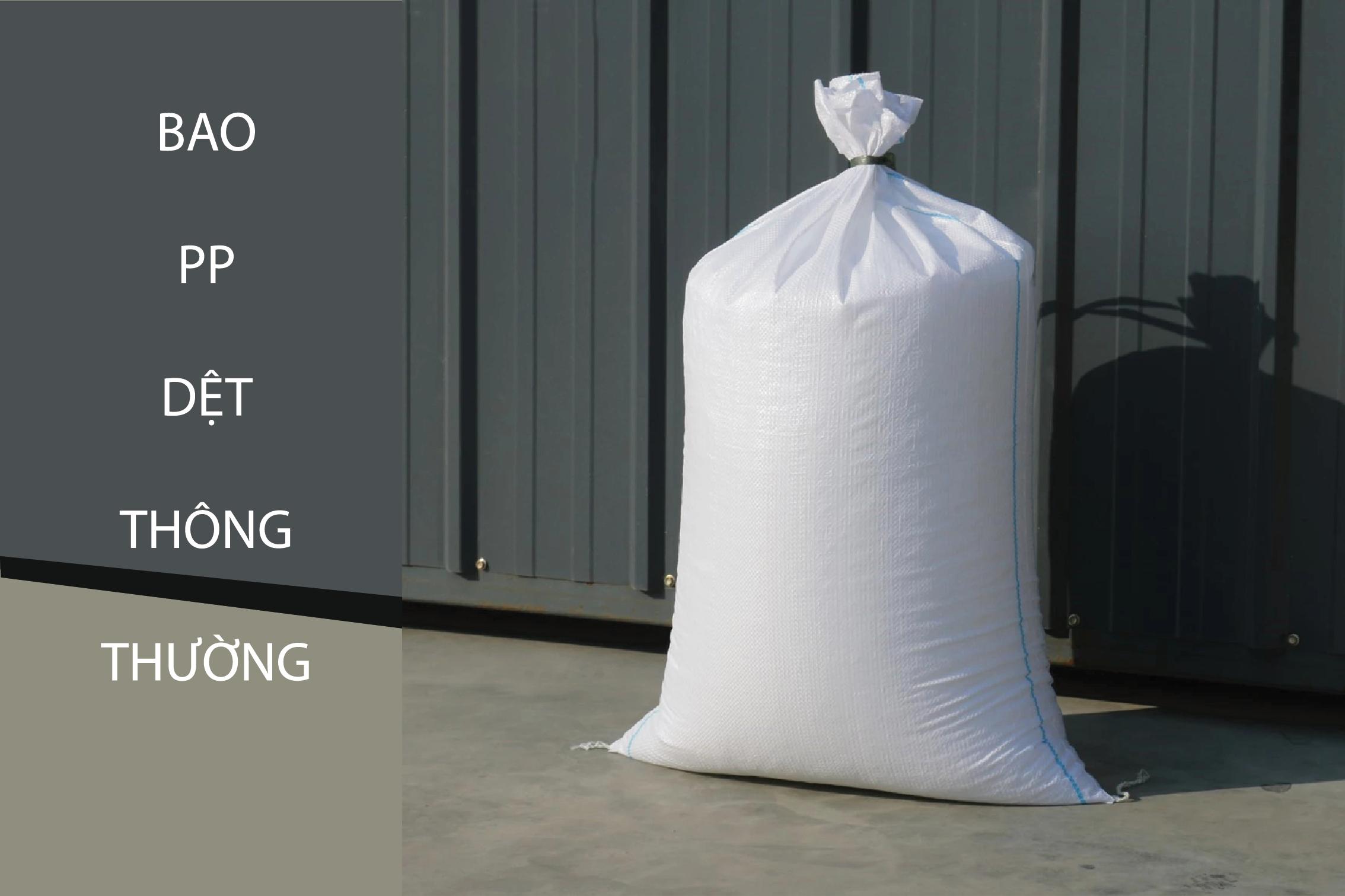 Bao PP dệt thông thường, màu trắng, không in hình - bao bì đựng gạo cao cấp