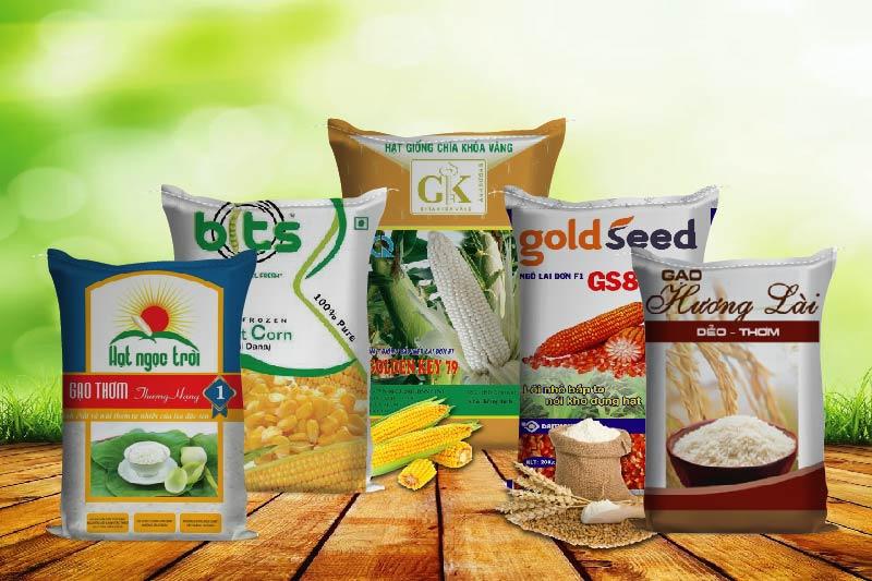 Các loại bao bì nông sản - xưởng in bao bì nông nghiệp