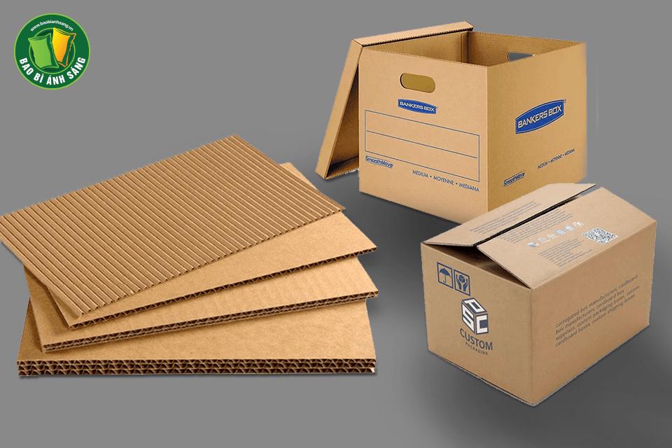Có 3 loại bao bì hộp giấy carton