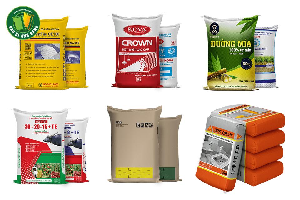 Ngoài Bao bì Xi Măng chúng tôi còn sản xuất bao bì đựng gạo, thực phẩm, hóa chất, bao bì giấy,…
