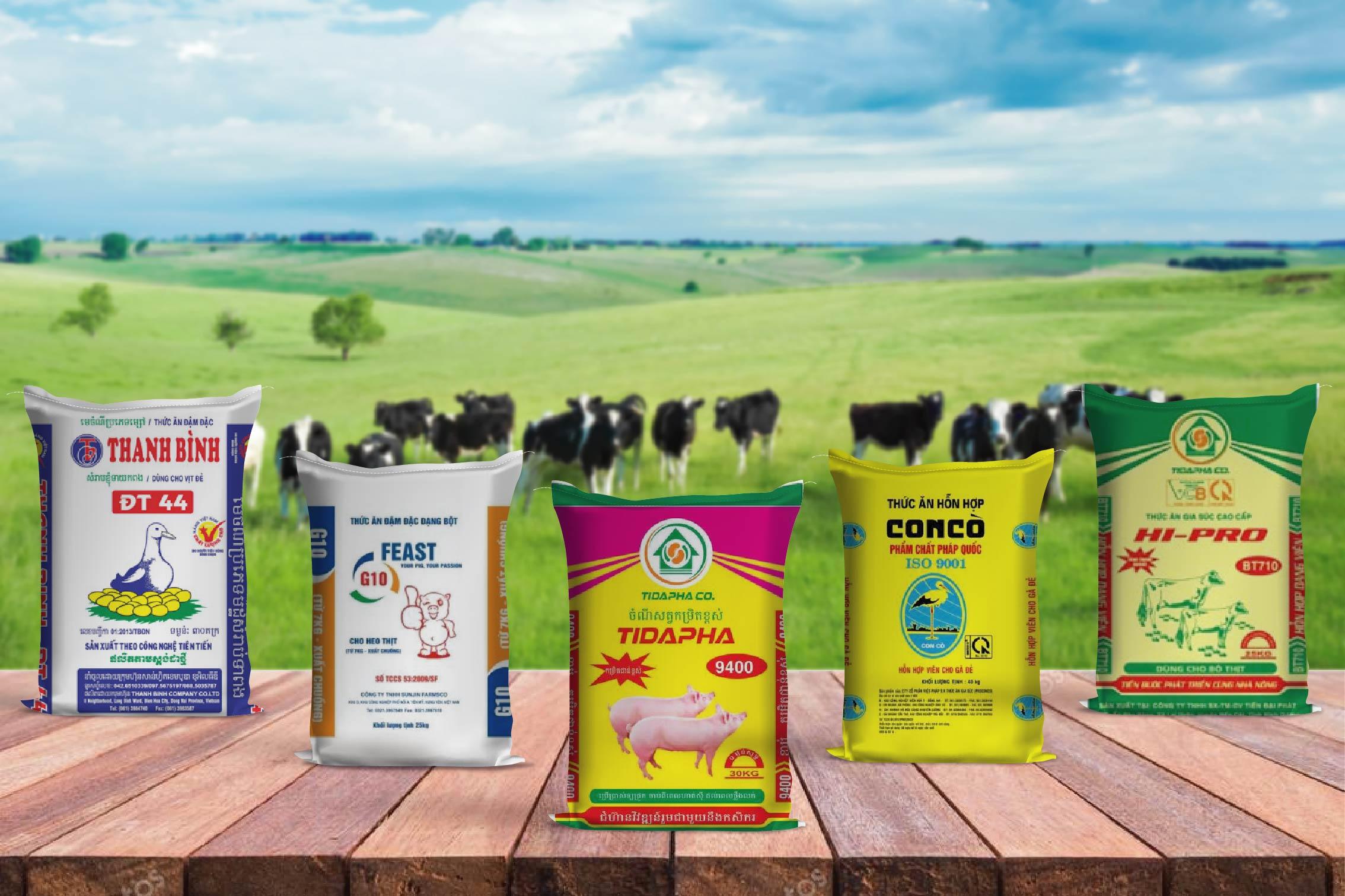 Các sản phẩm bao bì thức ăn chăn nuôi hiện nay trên thị trường - bao bì nhựa ngành thức ăn chăn nuôi