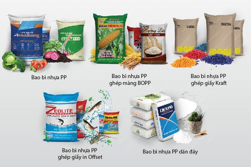 Các dòng sản phẩm điển hình của BBAS - cơ sở sản xuất kinh doanh bao bì nhựa