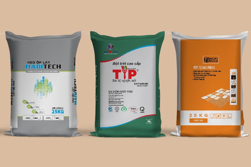 Các loại bao bì xây dựng đẹp của BBAS - cơ sở sản xuất kinh doanh bao bì nhựa