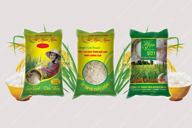 Các sản phẩm bao gạo đẹp - sản xuất bao đựng gạo