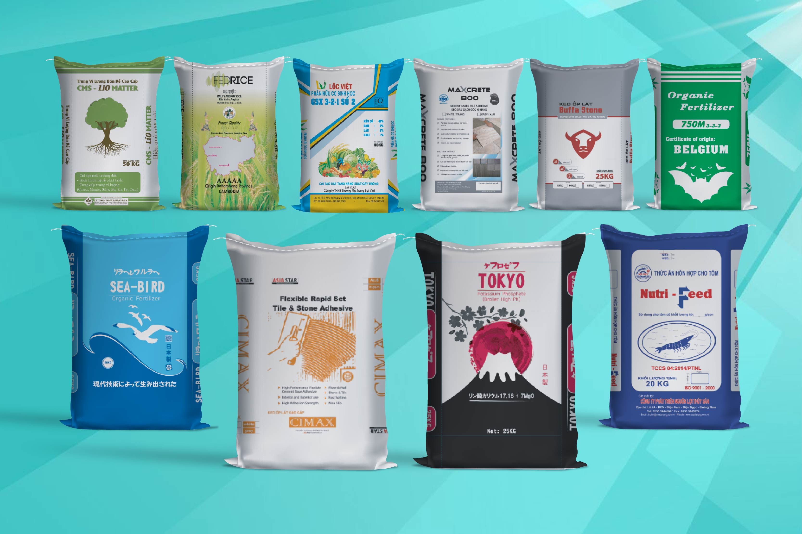 Các sản phẩm bao bì nhựa dẻo ghép màng khác nhau của BBAS - bao bì nhựa dẻo