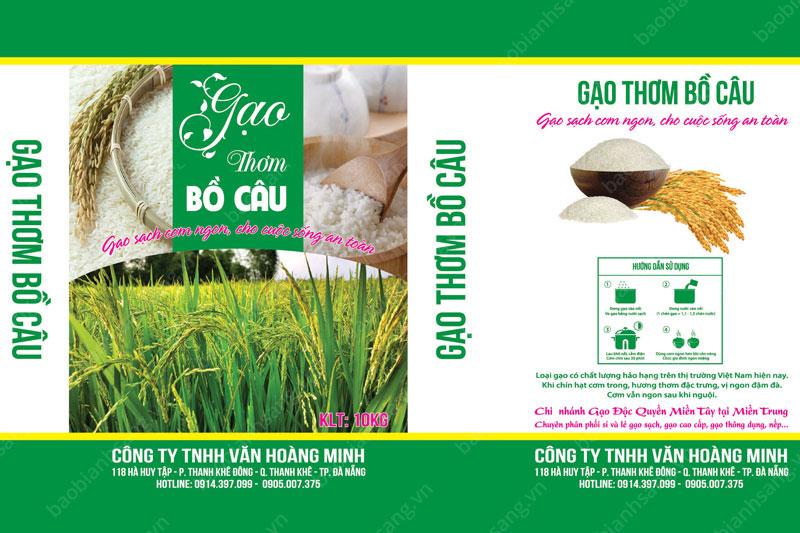 Mẫu thiết kế làm nổi bật thương hiệu - công ty sản xuất bao bì gạo cao cấp