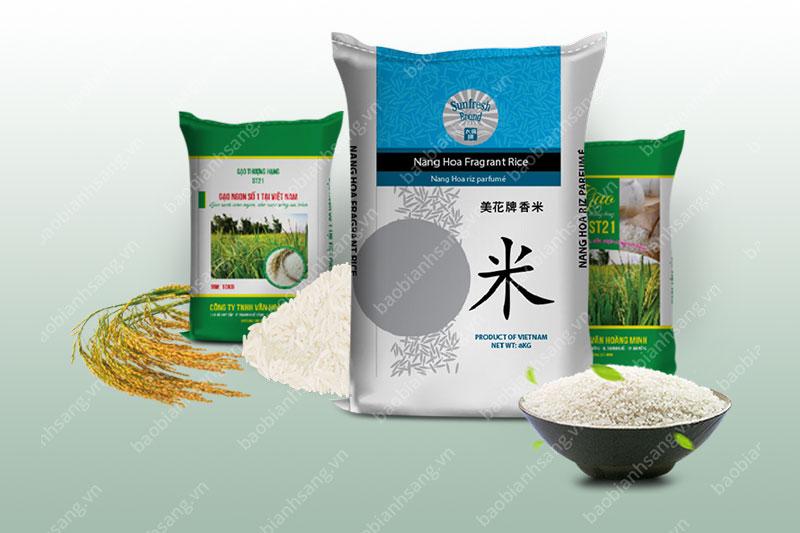 Những mẫu bao bì gạo đẹp - bao bì gạo
