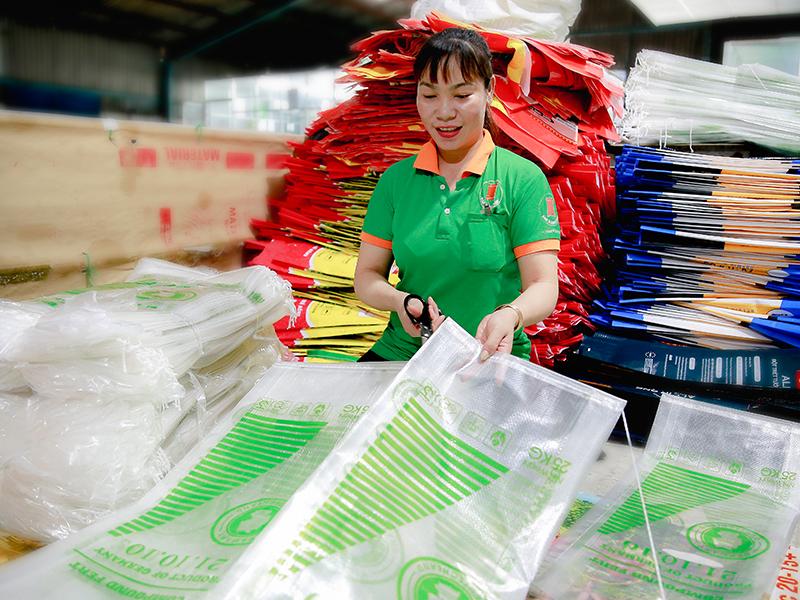 Công đoạn kiểm tra thành phẩm - sản xuất bao bì nhựa
