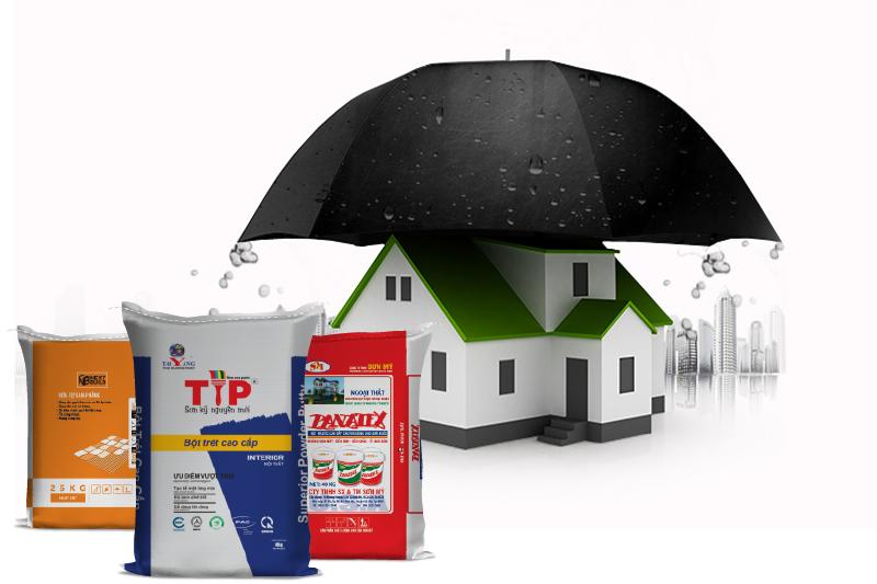 Bột chống thấm được ứng dụng rất nhiều trong các công trình- giá bao bì bột chống thấm