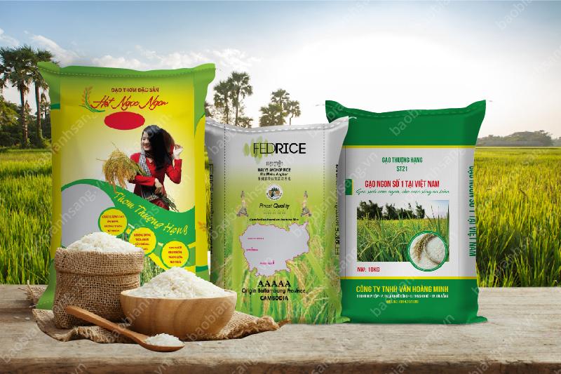 Các sản phẩm bao bì gạo đẹp tại BBAS - Sản xuất bao bì gạo cao cấp