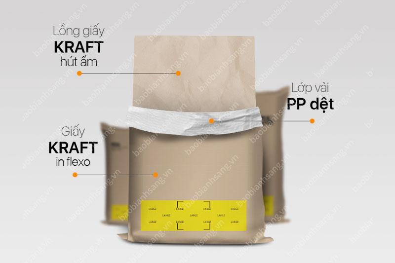 Cấu tạo bao giấy kraft của Bao Bì Ánh Sáng - các công ty sản xuất bao bì giấy kraft