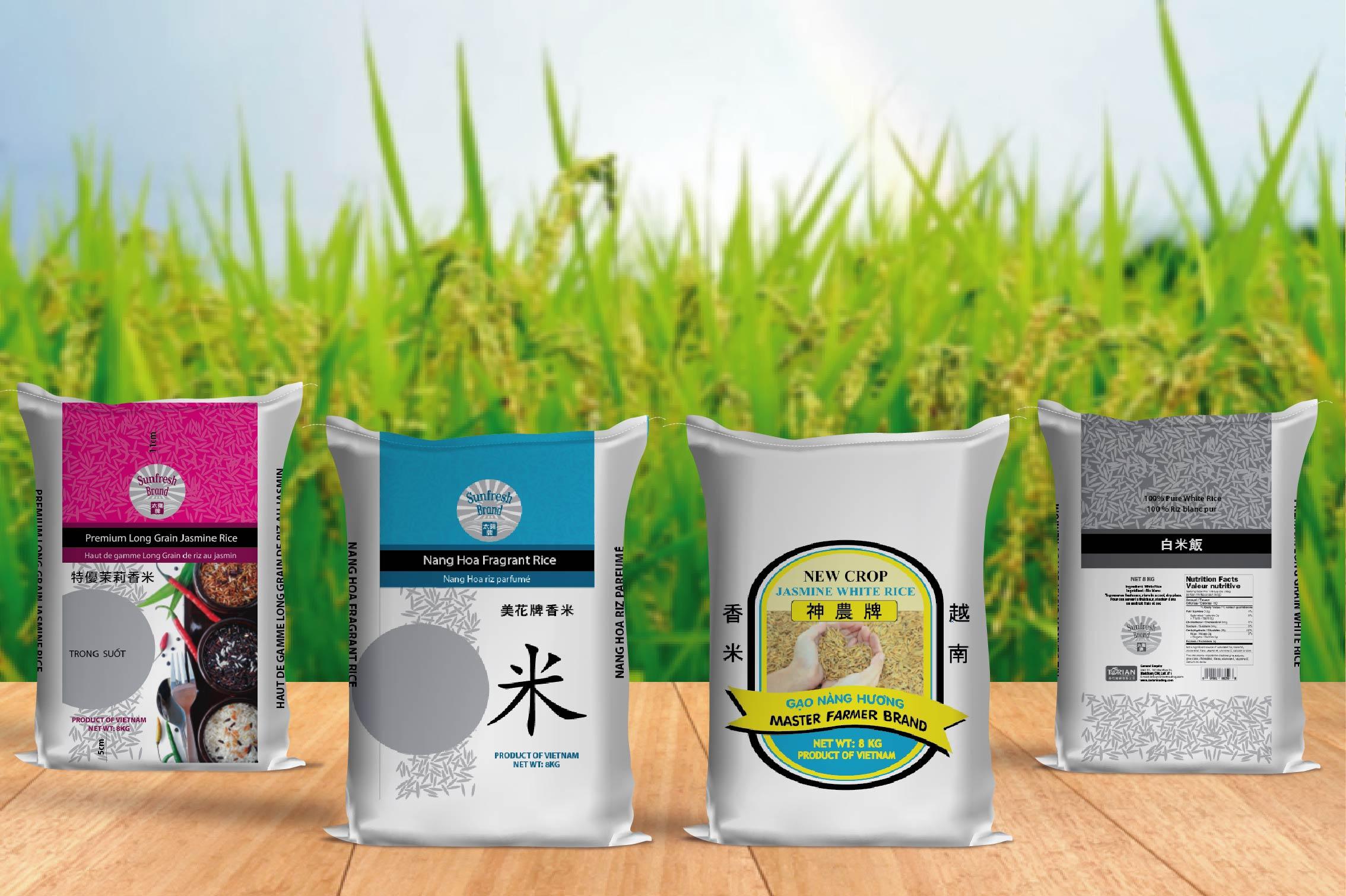 Bao bì gạo thiết kế ấn tượng sẽ thu hút được người dùng - bao đựng gạo