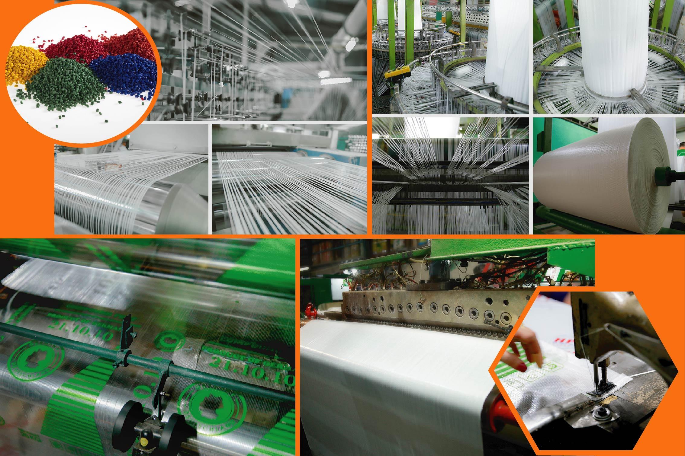các công đoạn sản xuất của bao bì - bao đựng gạo