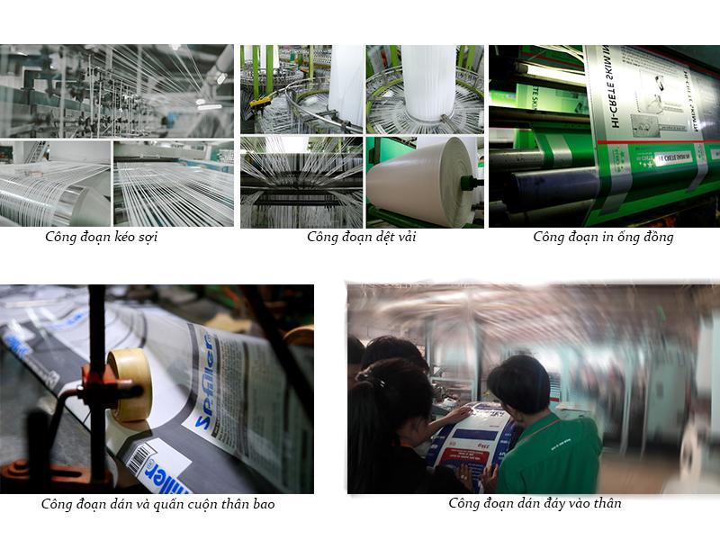 Quy trình sản xuất bao BOPP đáy vuông tại Bao Bì Ánh Sáng