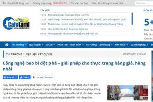 Báo Cafeland.vn lần đầu chia sẻ về công nghệ sản xuất bao bì dán đáy của Bao Bì Ánh Sáng