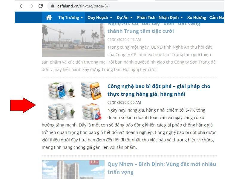 Báo cafeland.vn chia sẻ về bao bì BOPP của Bao Bì Ánh Sáng