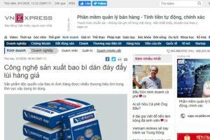 Đôi lời chia sẻ của VNExpress về công nghệ sản xuất bao bì dán đáy tại Bao Bì Ánh Sáng