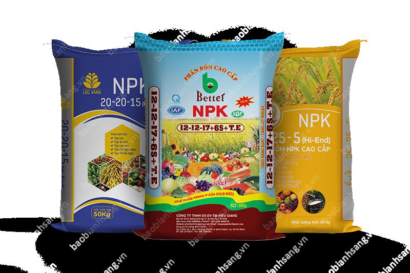 Phân NPK là một trong các thuật ngữ trên bao bì phân bón