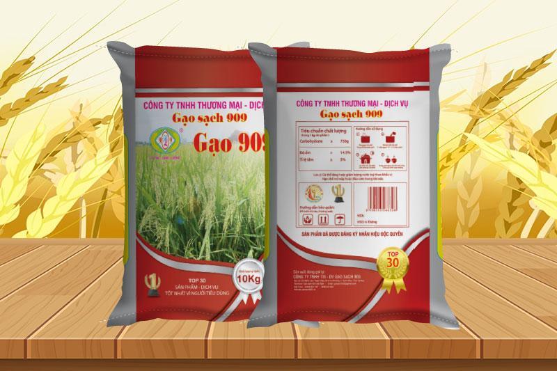 Thiết kế bao bì đựng gạo cần truyền tải được thông tin rõ ràng