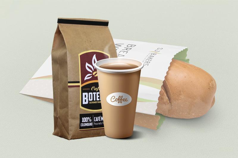 Ly giấy, túi giấy đựng cafe, giấy gói bánh mì - giấy kraft tráng pe