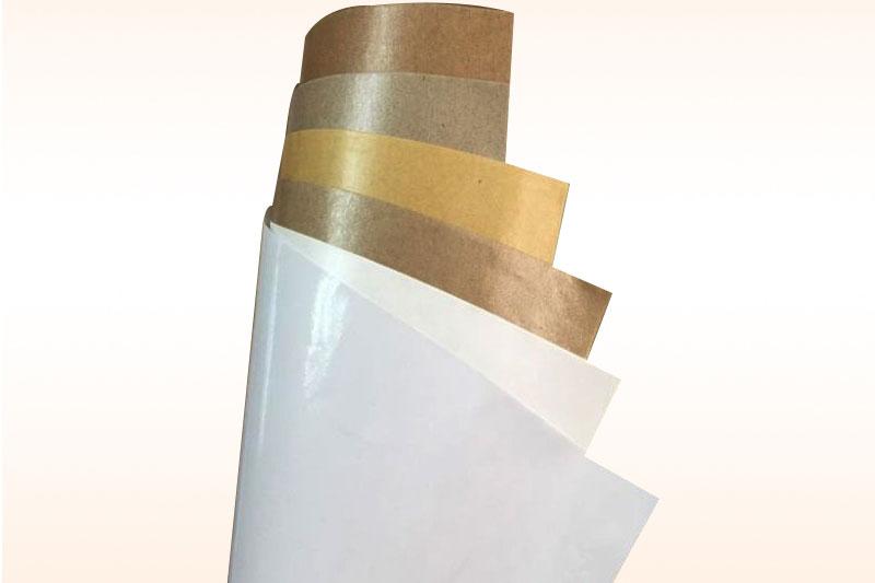 Giấy cuộn trắng và vàng - giấy kraft tráng pe