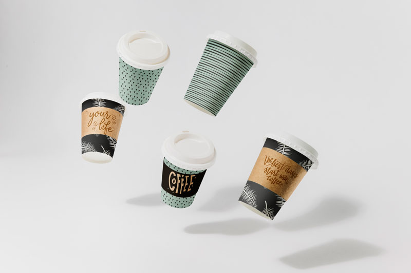 Ly giấy cafe có thông điệp hay - in giấy kraft tráng pe