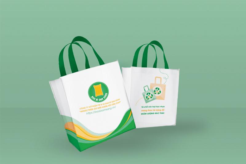 Sản phẩm túi vải PP được sản xuất bởi Bao Bì Ánh Sáng - nhận may gia công túi xách siêu thị