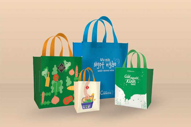 Túi vải PP thể hiện tone màu riêng -  túi xách siêu thị pp