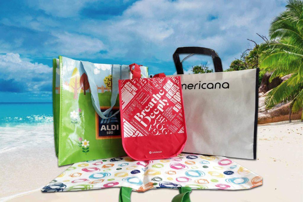 Các thiết kế túi PP dệt dùng cho siêu thị - túi xách siêu thị pp
