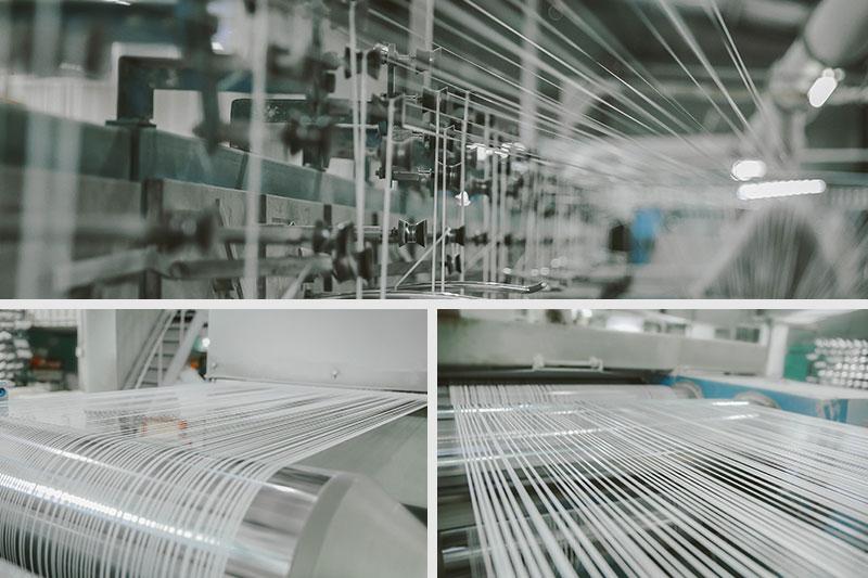 Công đoạn kéo chỉ - quy trình sản xuất túi vải pp dệt