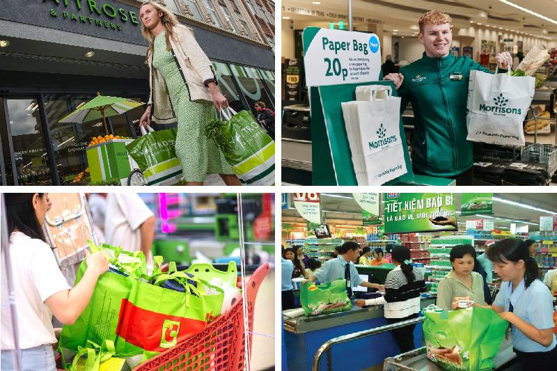 Sử dụng túi xách siêu thị sẽ giúp bảo vệ môi trường sống - may túi xách siêu thị