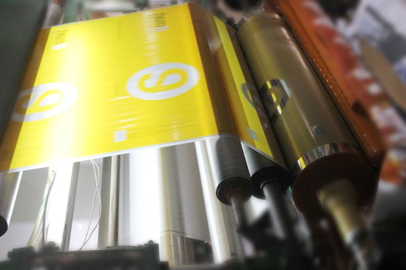 Công đoạn in ống đồng - quy trình sản xuất túi vải pp dệt