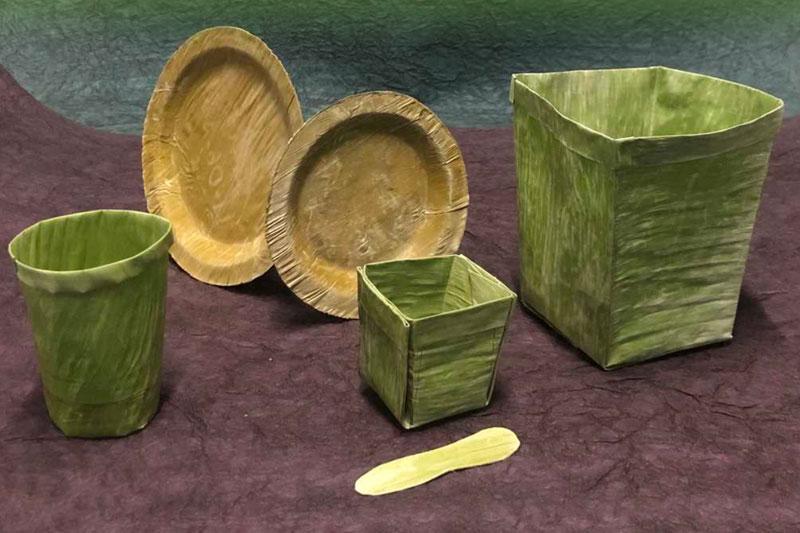 Người xưa sử dụng lá cây để gói vật dụng