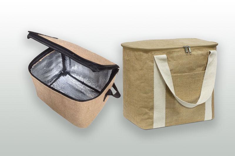 Túi giữ nhiệt từ vải bố sẽ không là lựa chọn tốt bởi khó in ấn