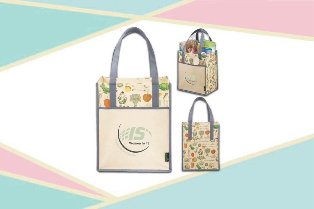 Túi vải PP có màu sắc hài hòa - túi xách siêu thị pp
