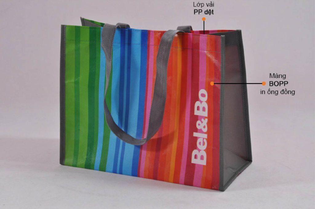 Túi PP dệt thiết kế đẹp với công nghệ in ống đồng - may túi xách pp theo yêu cầu