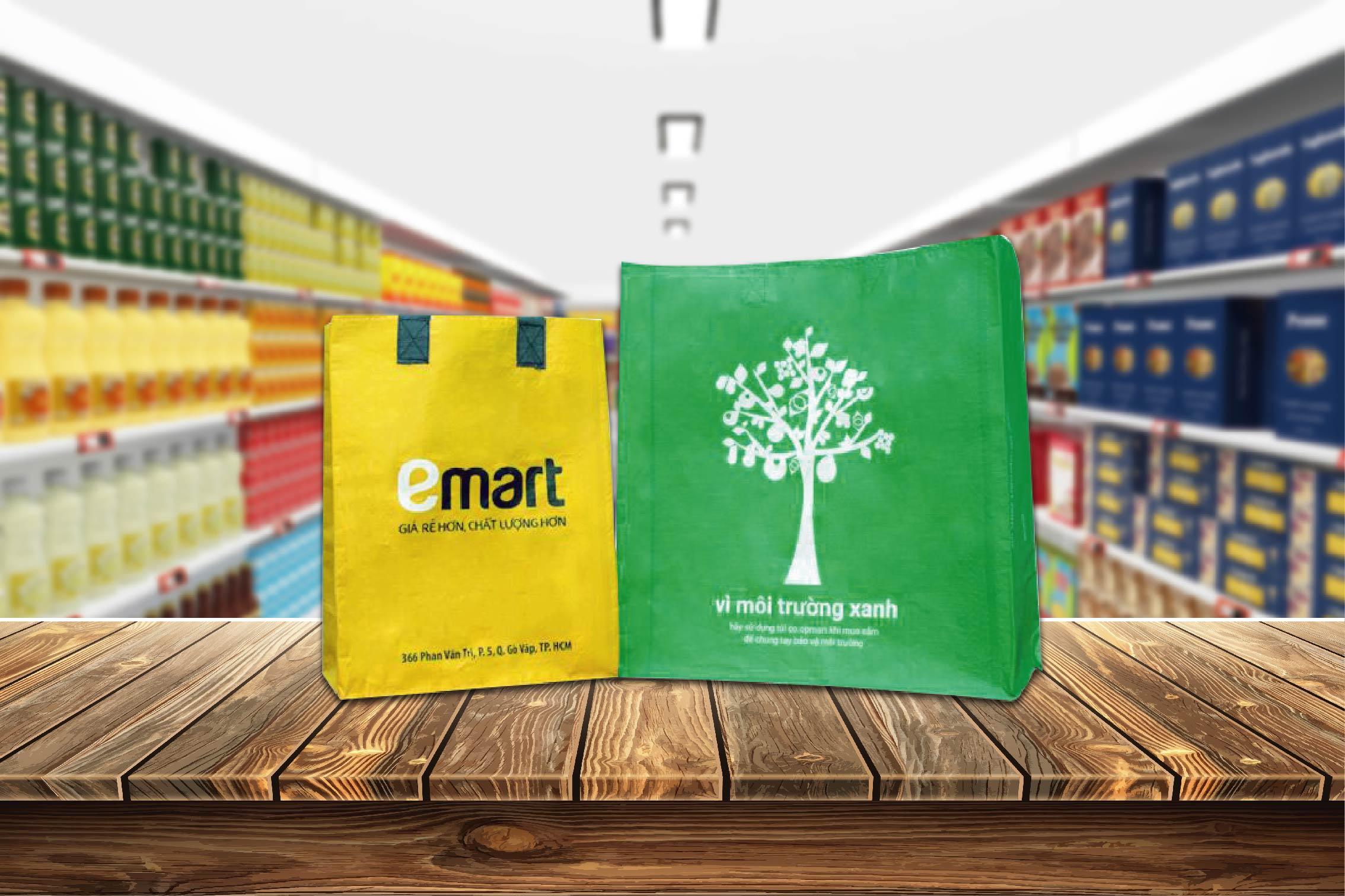 túi siêu thị coopmart emart