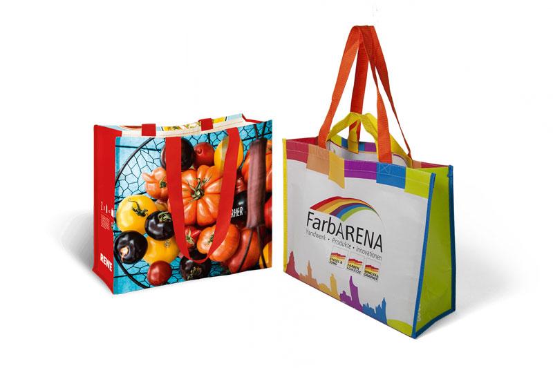 Túi vải pp dệt thiết kế 2 quai xách, kiểu dáng thời trang - Thiết kế túi vải PP dệt