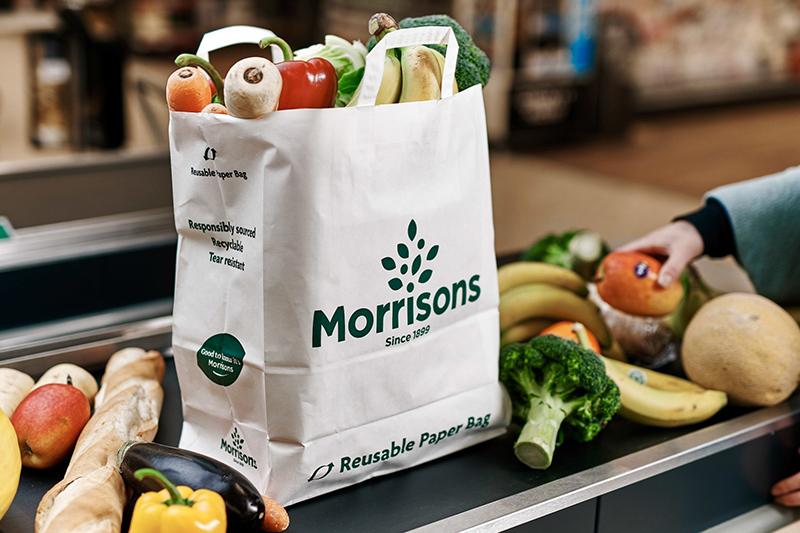 Túi xách siêu thị in logo thương hiệu rõ ràng - may túi xách siêu thị