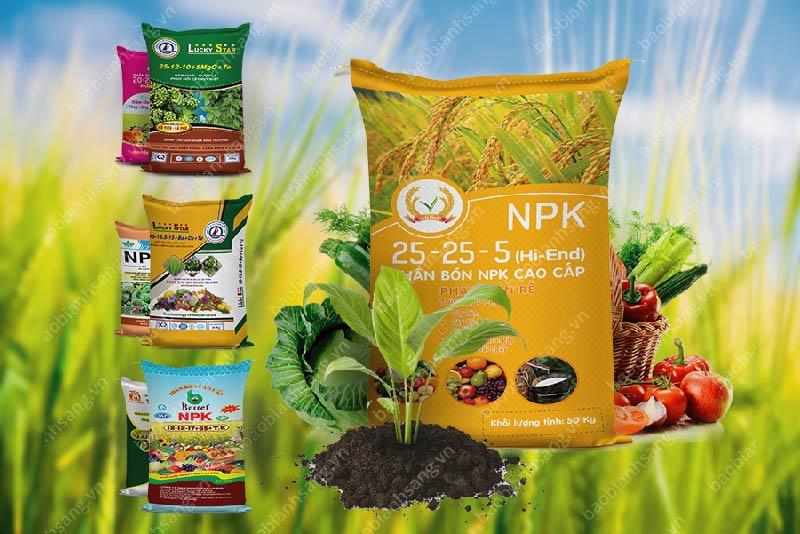 Các loại bao bì phân bón cao cấp - phân bón cải thiện độ chua của đất