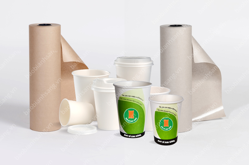 Bao Bì Ánh Sáng - Địa chỉ cung cấp giấy làm ly giấy uy tín - in cốc giấy