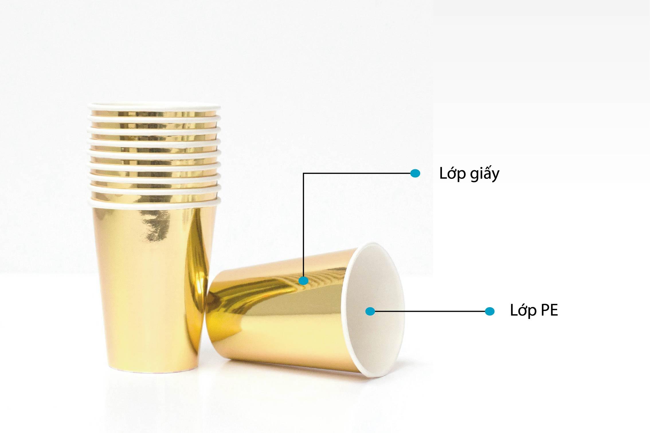 Giấy sẽ được tráng lớp PE để tặng độ cứng và chống ẩm ướt - công nghệ làm cốc giấy