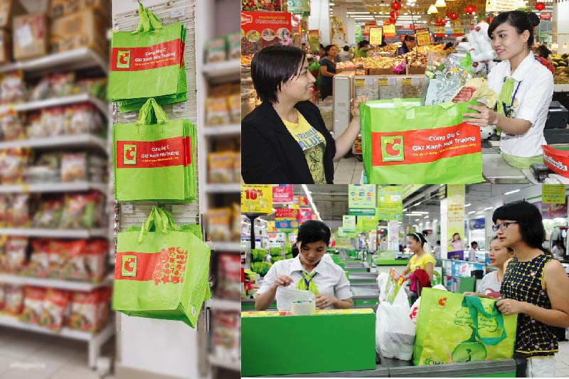 Túi PP dệt được sử dụng rộng rãi trong siêu thị - túi pp dệt cán màng